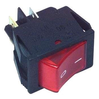 Schalter Wippschalter 25x32mm Netzschalter 16A Rot beleuchtet