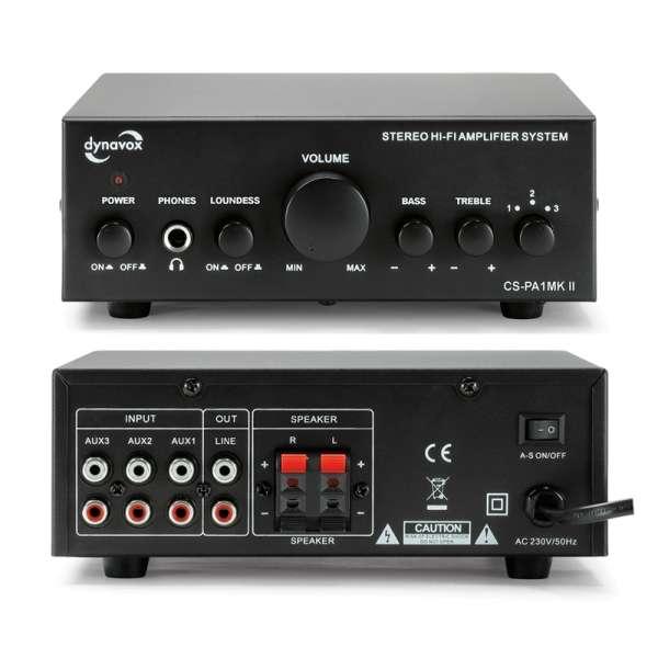 Verstärker CS-PA1-MK2 Mini-Verstärker 2x30Watt 2Kanal Stereo Schwarz