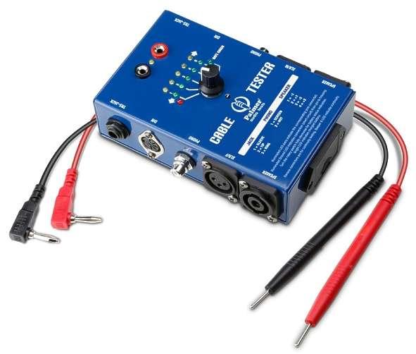 Kabeltester für Audiokabel Speacon XLR Klinke Cinch Midi DIN Kabelprüfer mit 13Leds