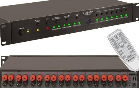 Lautsprecher Umschaltpult 7 Paare maximal 1500W Schwarz