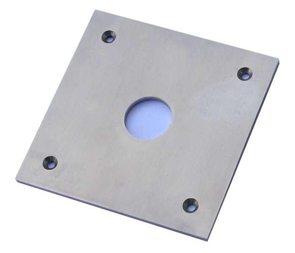 Klingeltaster Blende 2-HB V2A 82x82mm mit 4-Bohrungen