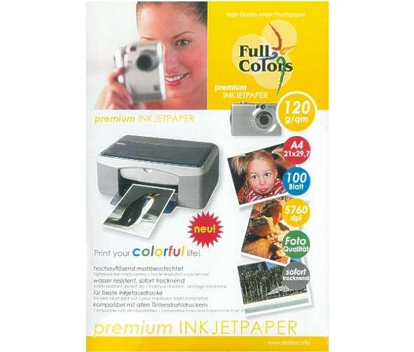 A4 Papier Photopapier A4 120g je qm 100 Blatt Pack