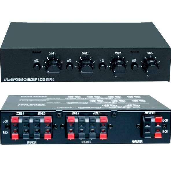 Lautsprecherschalter Regelpult für bis zu 4 Paare (4-16 Ohm)