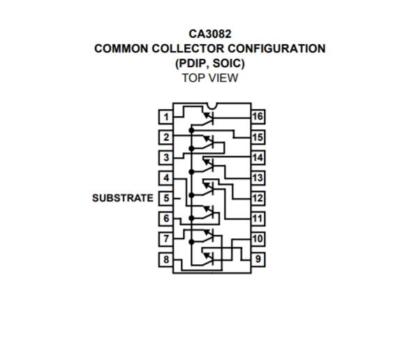 CA3082 NPN TRANSISTOR ARRAY HARRIS DIP16