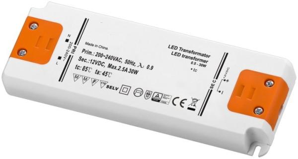 12V LED Netzteil 12V 30W flacher LED Trafo LED Konverter SELV