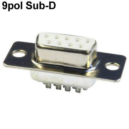 2x Sub-D-Stecker 9pol DS9 Lötkontakte