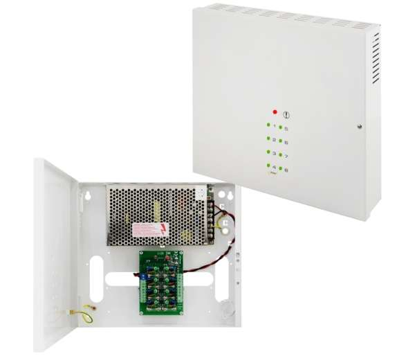 12V Netzteil 12V 8A 100W im Wandgehäuse 8x 12V Kameranetzteil Alarmtechnik mit 8-Status-LEDs