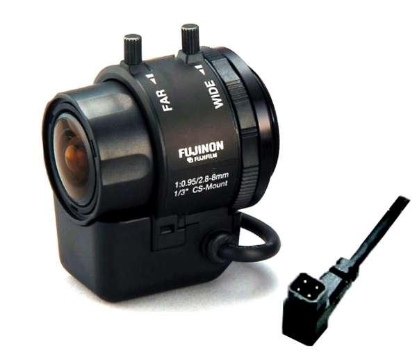 CS Mount Vario Objektiv 2,8-8mm DC IR-korregiert bis 4MP