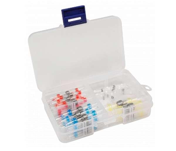 Lötverbinder Sortiment 50-teilig 4-Sorten mit Sortimentsbox