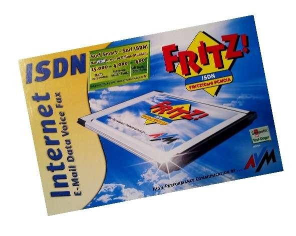 PCMCIA FRITZ!Card 2.0 ISDN Karte Modem NEU in OVP
