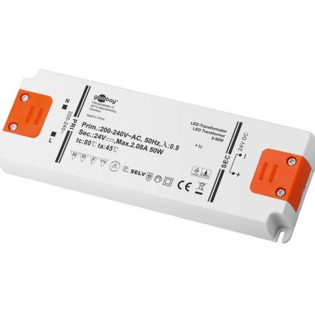 24V LED Trafo 230V bis 50Watt LED Konverter SELV Superflach