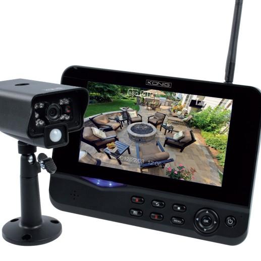 """Funkkamera Farbe 2,4GHz SET60 Kamera mit 17,7cm (7"""") Farb-TFT"""