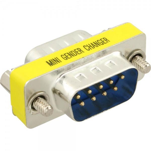 Gender Sub-D 9pol Stecker Stecker