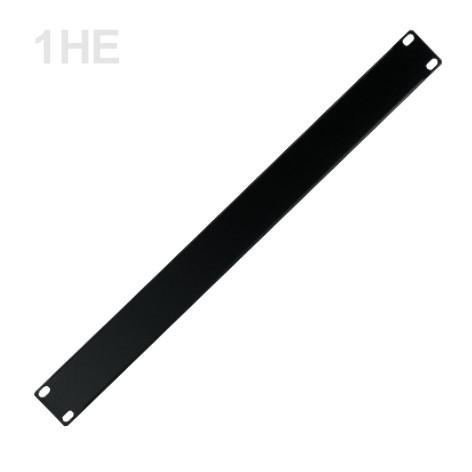 1HE Blende 19zoll Rackblende Stahl 483x44mm Schwarz