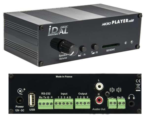 Tonspeicher Audiospeicher SD MP3 Player mit Schaltkontakt Microplayer