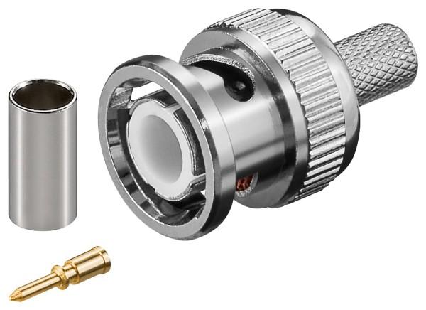 RG59 BNC Stecker Crimp für RG59 RG62 RG71 RG210 Koaxkabel