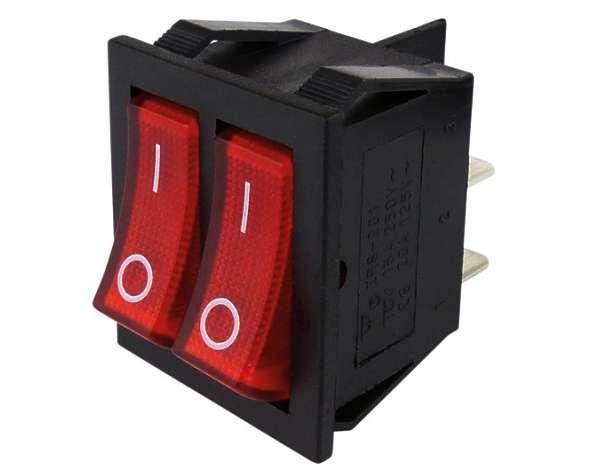 Schalter Wippschalter 25x32mm Ein-Aus 2polig 250V15A Netzschalter