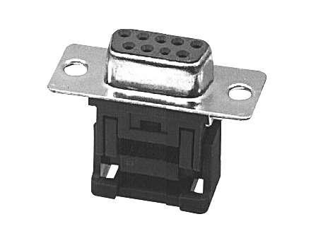 SUB-D 9pol Buchse Schneid-Klemm 2-reihig für Flachbandkabel