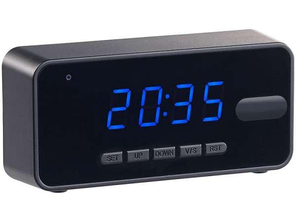 Kamera in einer Uhr Wecker mit Akku HD Kamera und Recorder Speicherkamera Tarn Kamera