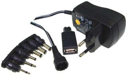 Netzteil 3V 4,5V 5V 6V 7,5V 9V 12V 600mA 7,2W MW3 mit USB