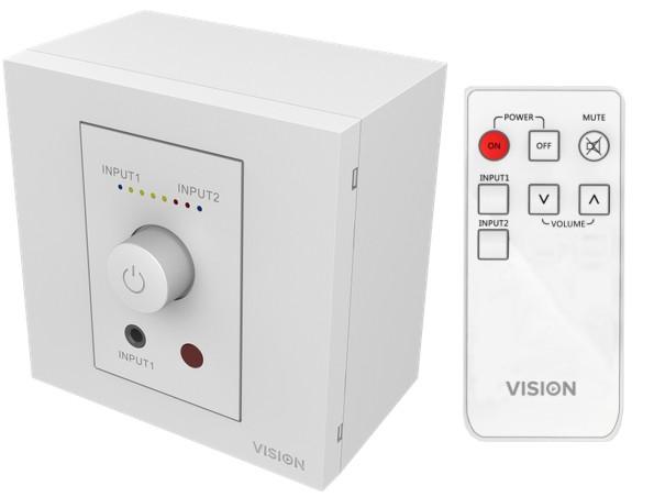Stereo Mini Verstärker 2x40W Aktivverstärker Aufputz Unterputz