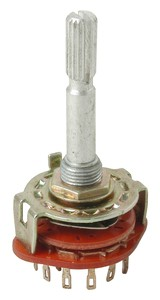 Schalter Drehschalter 4-stufig 3-Schaltkontakte 6mm Lötöse