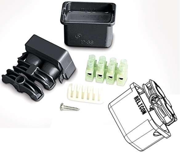 Kabelmuffe Wasserdicht Gel-Kabelgarnitur 57x43x43mm Gelmuffe 12-24V