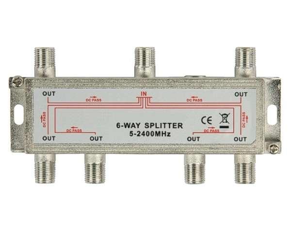 Antennen Verteiler 6-fach Verteiler SAT TV DAB DVB-T über F-Stecker