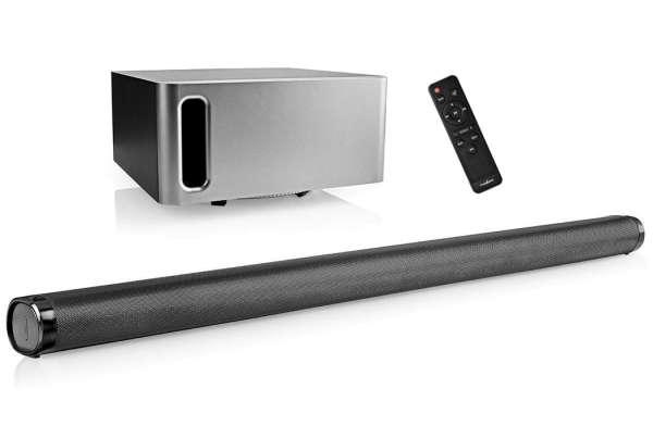 400W Soundbar 2.1 mit Subwoofer Fernbedienung HDMI AUX USB Bluetooth Toslink