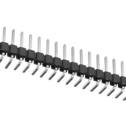 50pol Stiftleiste 90° gewinkelt verzinnt RM 2,54mm