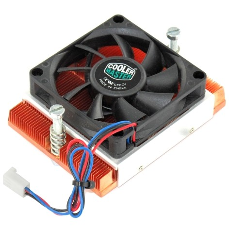 CPU Kühler Kupferkühler Cooler Master mit Lüfter 70x70mm