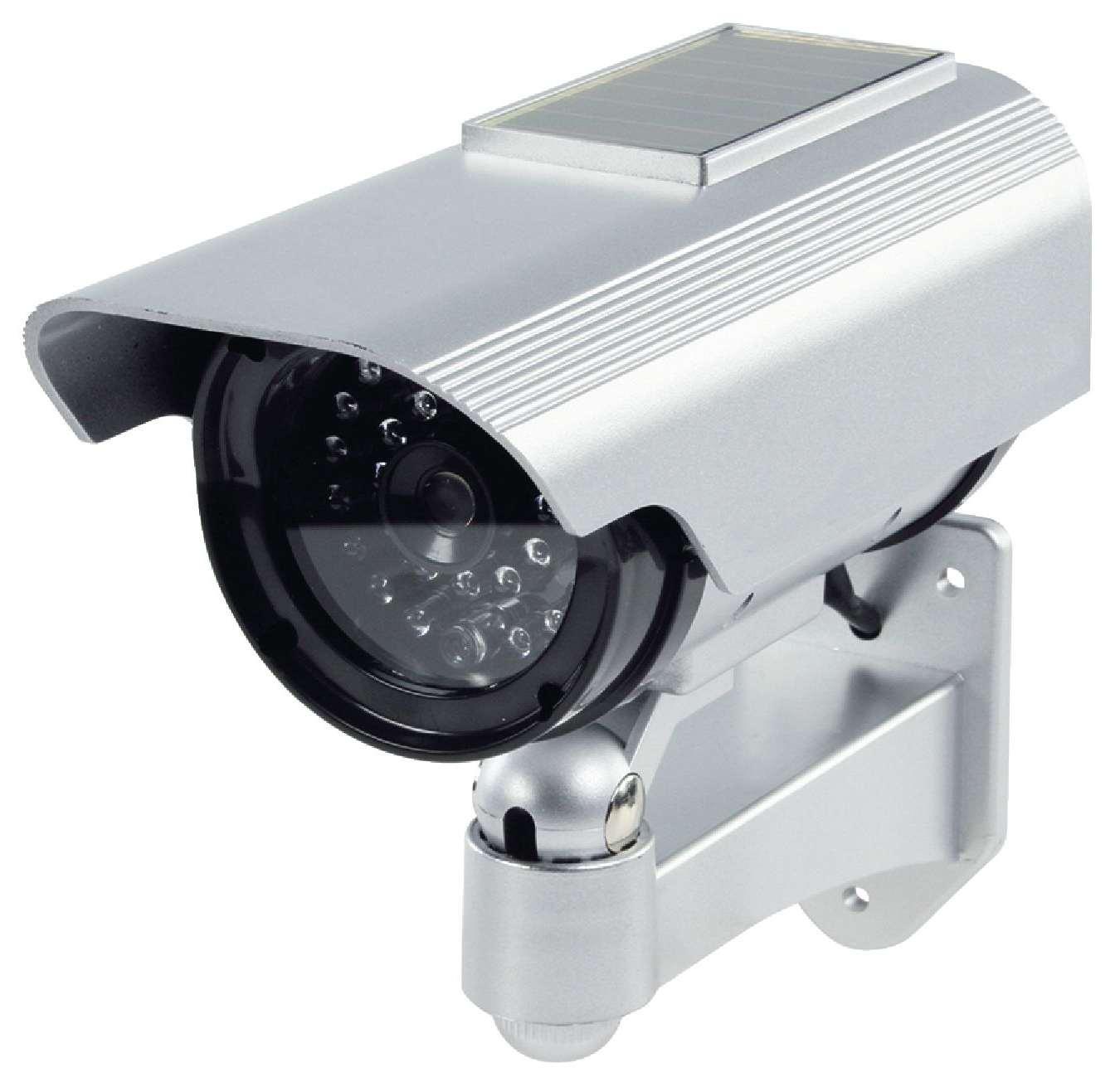 IP44 Wand Decke Überwachungskamera Attrappe mit Infrarot LEDs Kamera Dummy