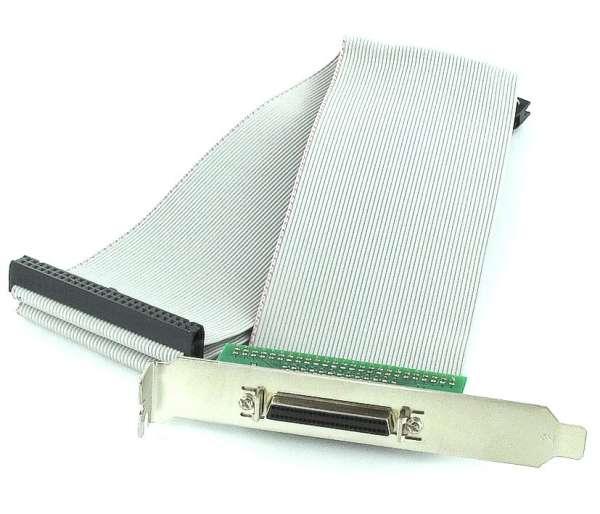SCSI Slotblech 3x 50pol SCSI-2 Flachbandkabel auf 50pol Buchse HalfPitch