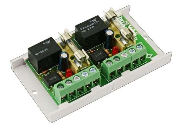 Modul Relaisplatine 2-Kanal 12V-ACDC Relaiskarte mit Sicherung
