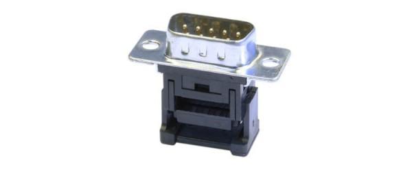 SUB-D 9pol Stecker Schneid-Klemm 2-reihig für Flachbandkabel