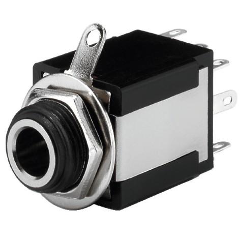 6,3mm Klinkenbuchse Stereo mit Schalter isoliert