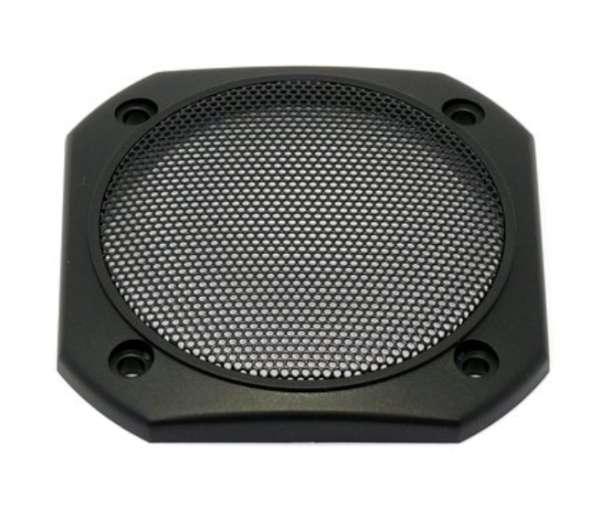 8,5cm Lautsprecherabdeckung mit Feingitter eckig 86x86mm Schwarz