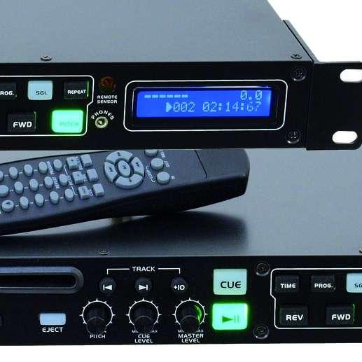 CD MP3 Player CMP-102 Rackeinbau mit Fernbedienung