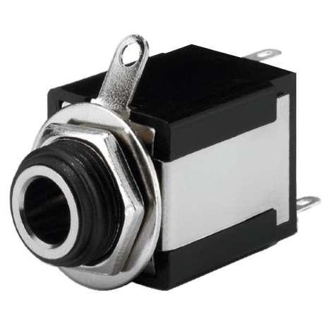 6,3mm Klinkenbuchse Stereo Isoliert ohne Schalter