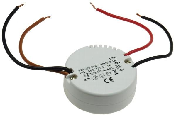 12V LED Netzteil 12V 12W runder LED Trafo LED Konverter