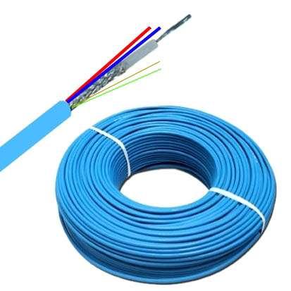 70m Koaxkabel RG174 75Ohm 2x0,75 2x0,22 HD SDI Kabel --Blau--