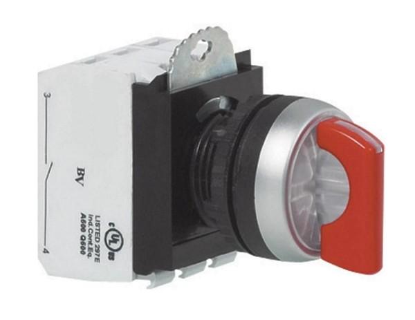 Schalter Drehschalter Netzschalter 6A Wechslerkontakt ROT mit LED