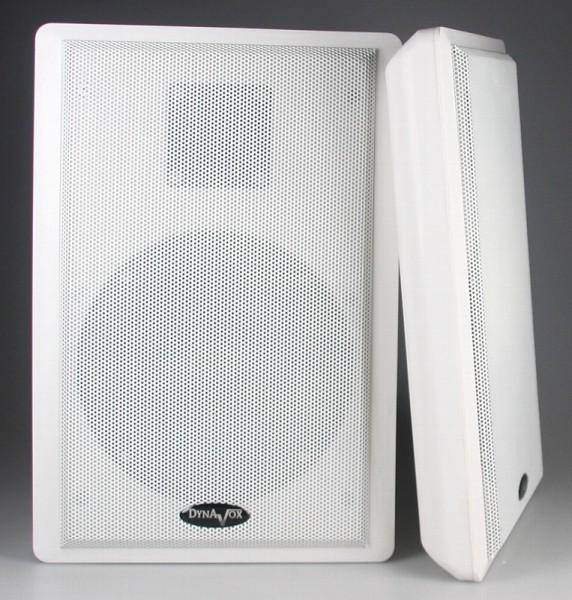 Flachlautsprecher Weiss Lautsprecherboxen 2x40W