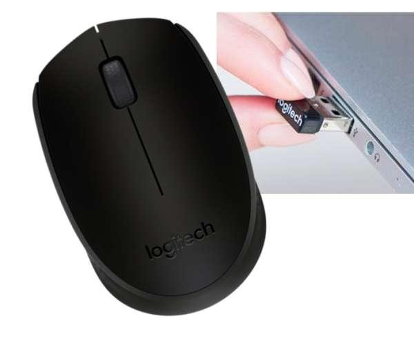 Funkmaus Logitech Wireless M171 Maus Blau mit Nano USB Empfänger