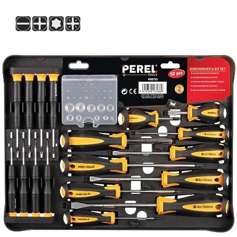 Schraubendreher Set 60-teilig Kreuz-Gerade-BIT Werkzeug Kit