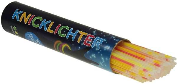 Knicklicht Leuchtstäbe 100er Dose verschiedene Farben