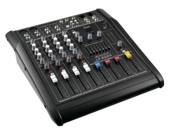 Powermixer Mischpult 2x150Watt Verstärker 622A 6Kanal Mixer