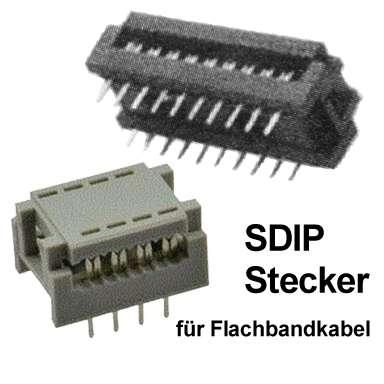 18pol DIP Stecker für Flachbandkabel RM 2,54mm