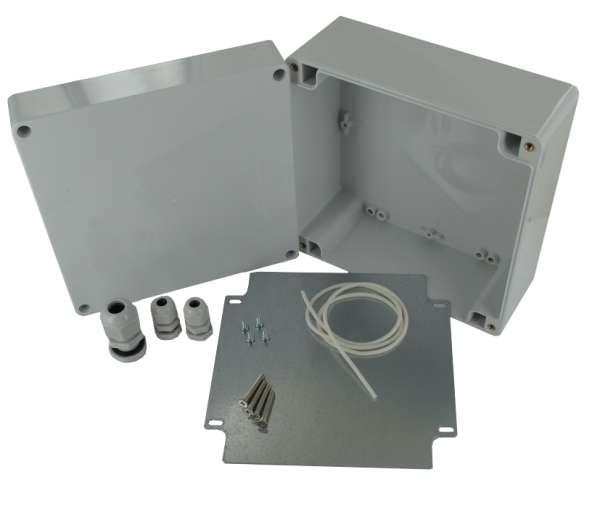 IP65 Gehäuse mit Metallplatte 160x160x90mm Installation Verteiler Gehäuse