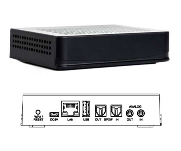 IP Audio WHD Airbridge-Pro Bluetooth WLAN LAN Line Out Klinke SPDIF Toslink